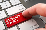 Hand Finger Press Business Ideas Keypad. 3d.