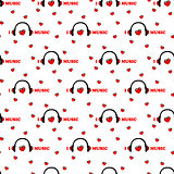 seamless pattern with symbol of music. vector
