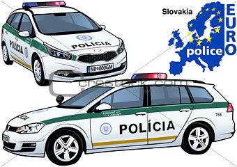 Slovakia Police Car