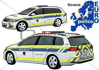 Slovenia Police Car