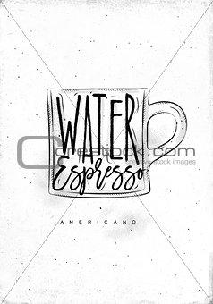 Americano cup coffee