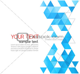 Abstract template background with triangle