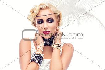 Beautiful retro style girl