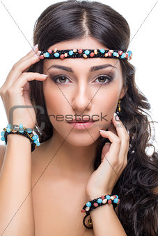 beautiful girl with accessories