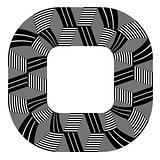 Abstract design element. Lines pattern.