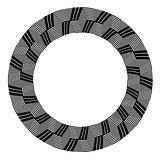 Circle design element. Op art pattern.