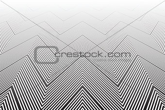 Abstract background. Perspective view. 3D illusion.