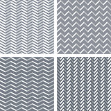 Seamless 3d zigzag patterns set.