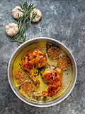 rustic italian roast chicken with garlic and rosemary