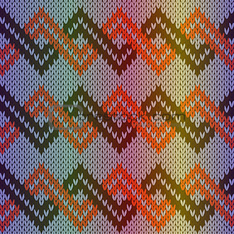 Knitting multicolor seamless pattern