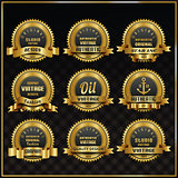 Vintage vector retro labels symbols set
