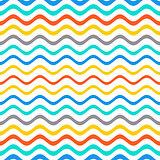 Seamless gradient wavy line pattern