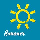 Vector watercolor summer sun design
