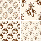 Vintage vegetable patterns