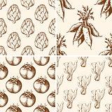 Vintage vegetable patterns