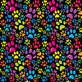 Colorful background with paws