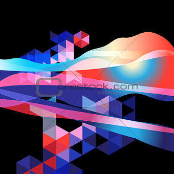 Bright abstract fantastic background