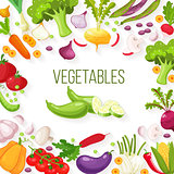 Vector frame of fresh vegetables for your design