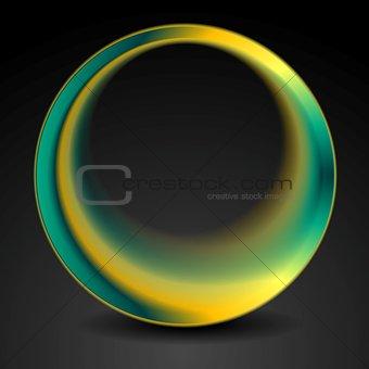 Bright turquoise and orange round circle logo design