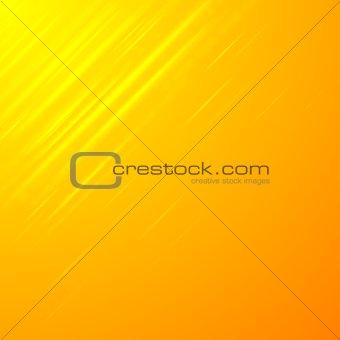Bright shiny orange stripes vector background
