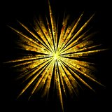 Shiny golden beams design