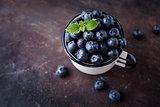 Juicy fresh blueberries.