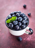 Juicy fresh blueberries.