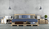 Master bedroom in rustic style