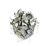 breaking rock