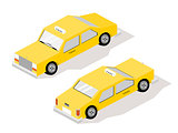 Isometric Car Yellow Taxi