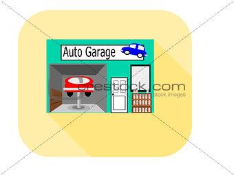 Flat Design Icon Auto Garage