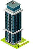 Isometric tall glass building