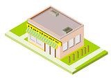 Isometric Hardware Store Building