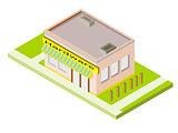Isometric Hardware Store Building