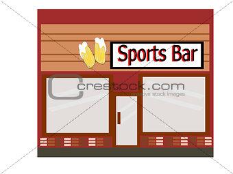 Flat Design Sports Bar