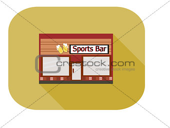 Flat Design Sports Bar Icon