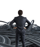 Choices of a businessman and difficult career concept