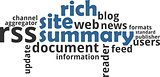 word cloud - rich site summary