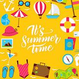 Summer Lettering Postcard