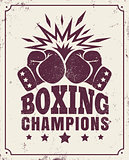 vintage logo for a boxing