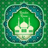Vector greeting card for Ramadan.