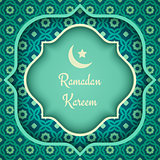 Vector greeting card for Ramadan.