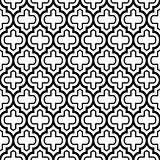 Geometric seamless pattern, Moroccan tiles design, black background