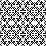 Geometric seamless pattern, Moroccan tiles design, black background