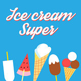 Vector super delicious ice cream poster