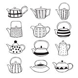 Hand drawn teapots