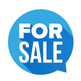 For Sale sign speech bubble