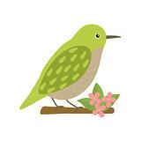 Uguisu bird animal cartoon character