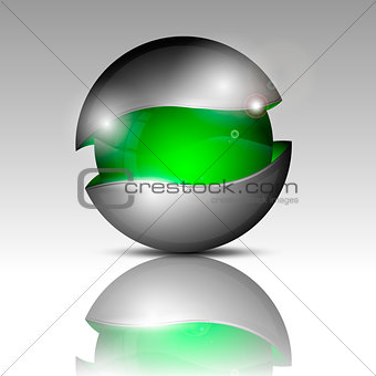 Clear half-gray sphere.For you design