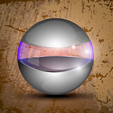 Gray sphere with transparent line